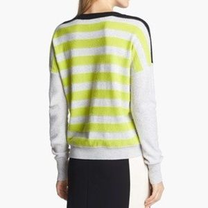DVF cashmere stripped butter soft sweater M